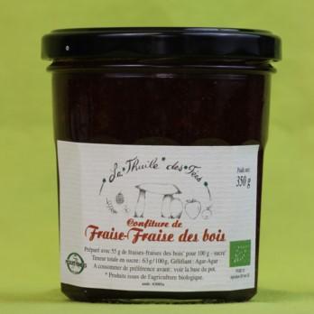 confiture biologique fraise cassis framboise mure myrtille